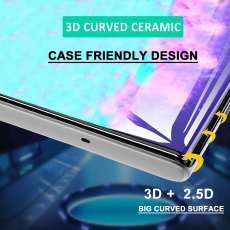 Curved Ceramics Protection 3D FULL FILM Note 10 N970F, Black