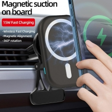 15W Wireless Magsafe Car Charger ,black