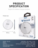 Inkax Fast Wireless Charger FW-04 , white