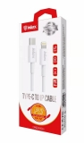 Datakabel CK-72 inkax, Type-C to iPhone 2.4A 2m, white